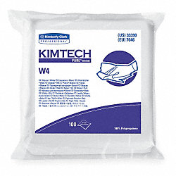 Clean Room Wipes, White, PK 500
