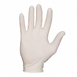 Disposable Gloves, Latex, M, Natural, PK100
