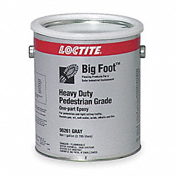 Floor Coating, 1 gal, Gray, Epoxy, Matte