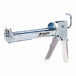 Caulk Gun, Steel, 10.3 Oz, Silver, w/Cutter