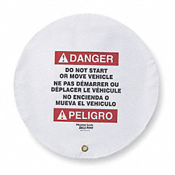 Danger Sign, 16 x 16In, R and BK/WHT, Vinyl