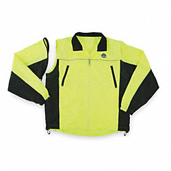 Jacket, No Insulated, Lime/Black, XL