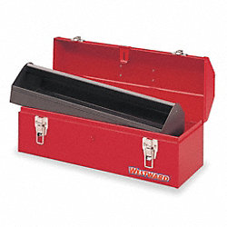 Portable Tool Box, 20 W x7 D x7-5/8 H, Red