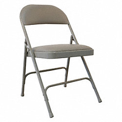 Steel Chair with Vinyl Padded, Beige