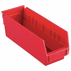 Shelf Bin, 11-5/8 x 4-1/8 x 4, Red