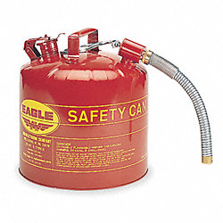 Type II Safety Can, Red, 13-1/2 In. H