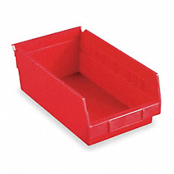 Shelf Bin, 11-5/8 x 6-5/8 x 4, Red