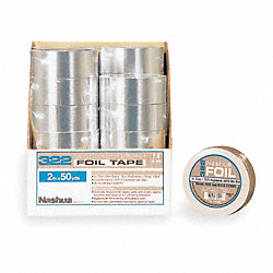Foil Tape with Liner, 72mm x 46m, Silver