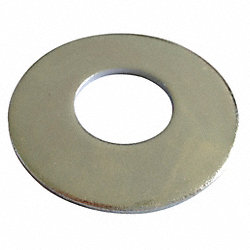 Flat Washer, USS, Zinc, Fits 3/8 In, Pk 100
