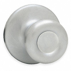Knob Lockset Lockset, Satin Chrome