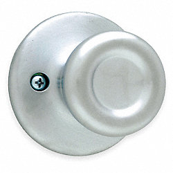 Knob Lockset, Satin Chrome