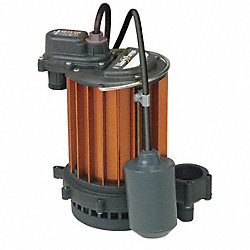 Sump Pump, Wide Angle Piggy-Back, 1/3 HP