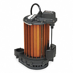 Sump Pump, Vertical Magnetic Float, 1/2 HP
