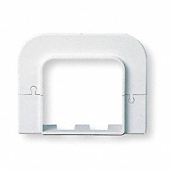 Flat Wall Escutcheon, 4-1/4 In. L, White