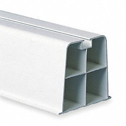 Mount Block, 17-3/4 In. L, White