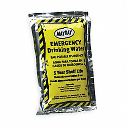 Emergency Drinking Water Pouch, Pk 64