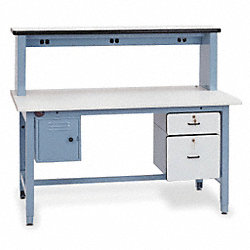 Technician Station, White , 30 to 36 In. H