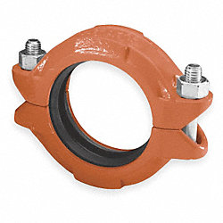 Coupling, 4 In, 4 1/2 In OD, Ductile Iron
