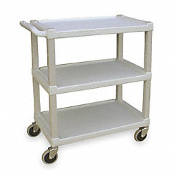 Utility Cart, Beige, Shelf 24 x 16