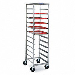 Pan & Tray Rack, Open, Stainless, 22x18x68