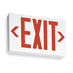 Exit Sign, 3.8W, Red, 1 or 2 Faces