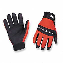 Cold Protection Gloves, S, Red/Black, PR
