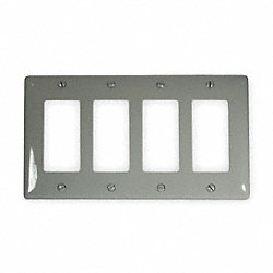 Wall Plate, 4 Gang, Gray