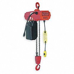 Electric Chain Hoist, 4000 lb., 20ft, 8 fpm