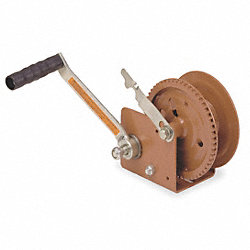 Hand Winch, Spur Gear, Brake, 1200 lb.