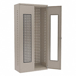 QuickView Bin Cabinet, H78, W36, D18, Putty