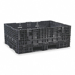 Collapsible Container, ExtendedLength, Blk