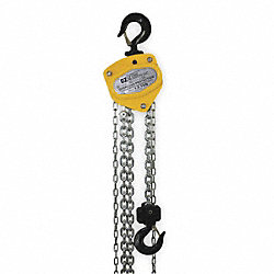 Hoist, Hand Chain, 1.5 Ton, 10 Ft Lift