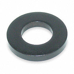 Flat Washer, Blk Oxide LCS, Fits 1/2 In