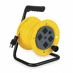 Cord Reel, Manual, 14/3, 40Ft, Yellow