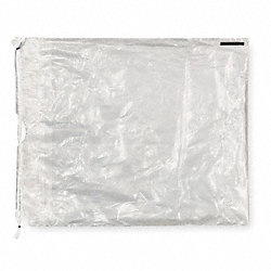 Clear Drawstring Bag, Polyethylene, PK500