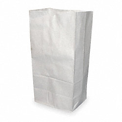 Paper Bag, White, 3-3/8 In. H, PK 500