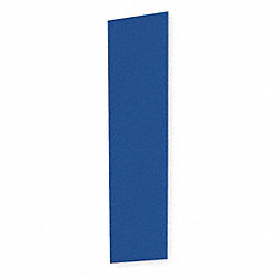 End Panel For Slope Top Locker, D 18, Blue