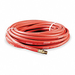 Hose, Air, 1/2 In IDx1/2 NPT, 50 Ft, Red
