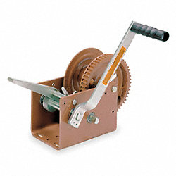 Ratcheting Winch, Spur, No Brake, 2500lb.