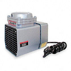 Compressr/Vacuum Pump, 1/8 HP, 60  Hz, 115V