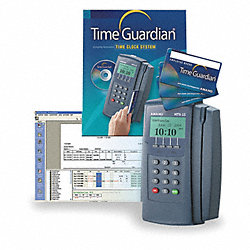 Time Clock, Digital, 8 3/4Hx4 3/4W In.