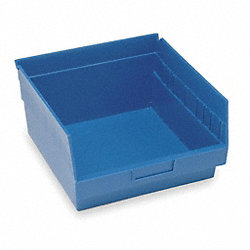 Shelf Bin, W 11 1/8, H 6, D 11 5/8, Blue