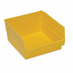 Shelf Bin, W 11 1/8, H 6, D 11 5/8, Yellow