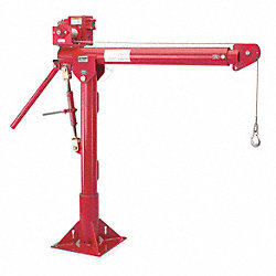 Davit Crane, Portable, 1000Lb, 0-252In, Red