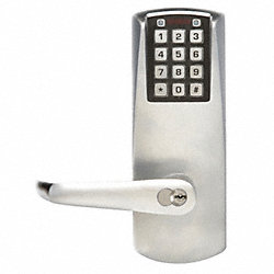 Programmable Lockset, Cylindrical, Chrome