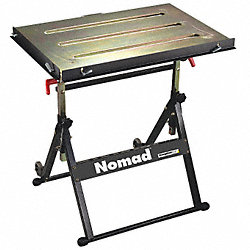 Portable Welding Table, 30W, 20D, Cap 350