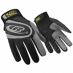 Mechanics Gloves, Black, 3XL, PR