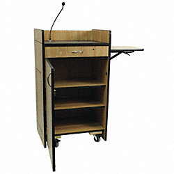 Lectern w/Sound, Med Oak