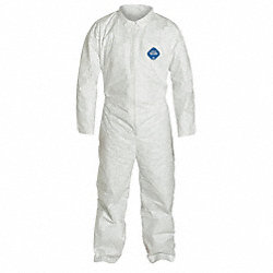Collared Tyvek(R), Indv, White, Open, 4XL