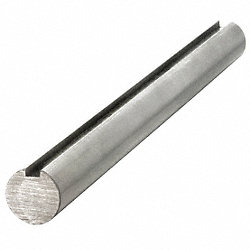Keyed Shaft, Dia. 3/8 In, 6 In L, 304 SS